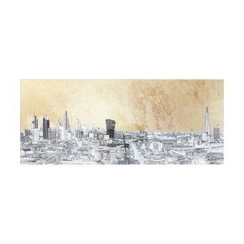 Tablou pe sticlă Kare Design London View, 120 x 50 cm