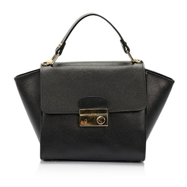 Černá kožená kabelka Lisa Minardi Alice