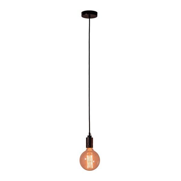 Czarna lampa wisząca bez abażuru SULION Vintage