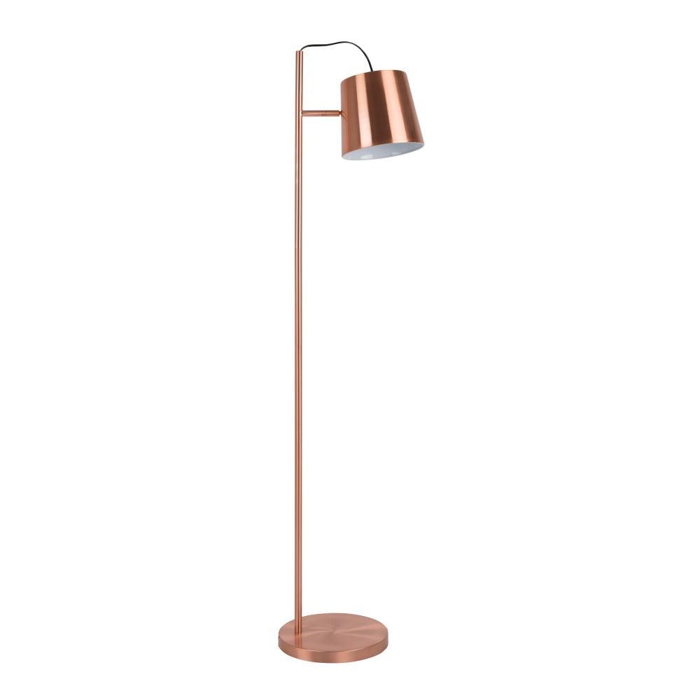 Stojací lampa v měděné barvě Zuiver Buckle Head