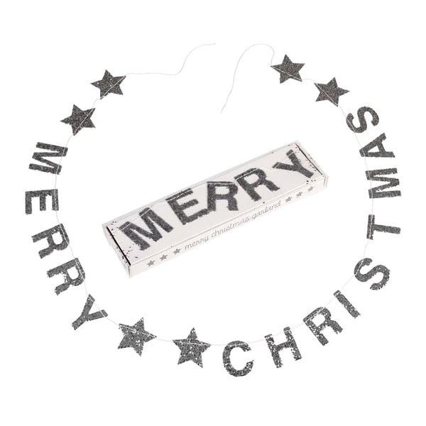 Vánoční girlanda s nápisem Rex London Silver Stars