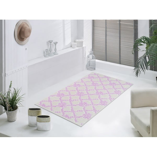 Starorůžový odolný koberec Vitaus Scarlett, 140x200cm