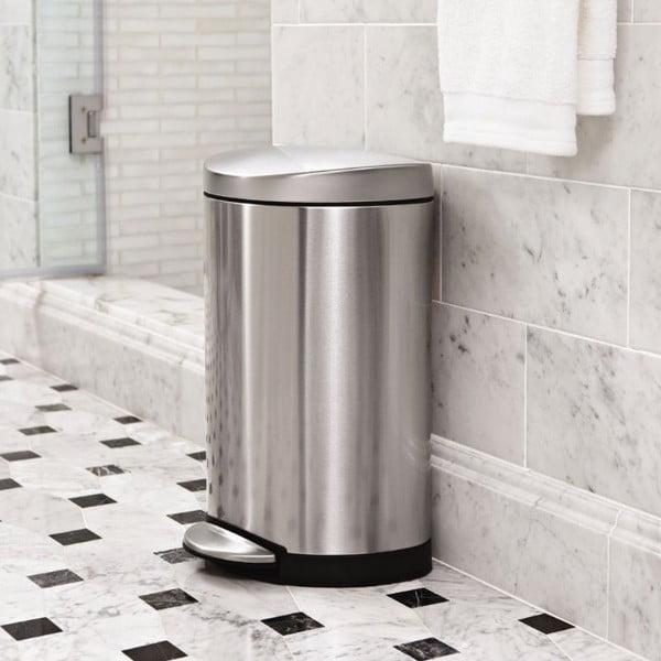 Koupelnový koš simplehuman 10 l, matná ocel