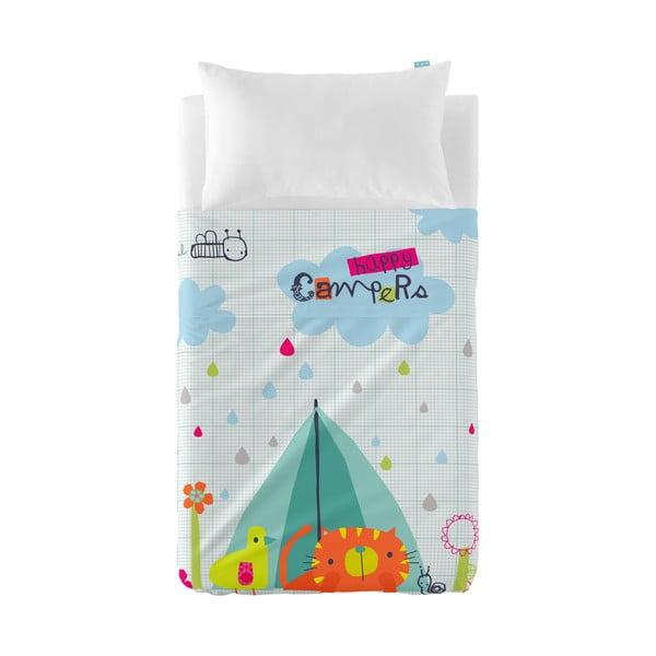 Dětský přehoz a povlak na polštář Baleno Happy Campers, 100x130cm