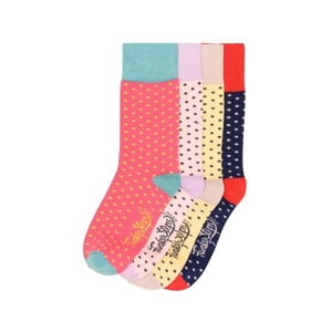 Sada 4 párů barevných ponožek Funky Steps Dotty, vel. 35-39