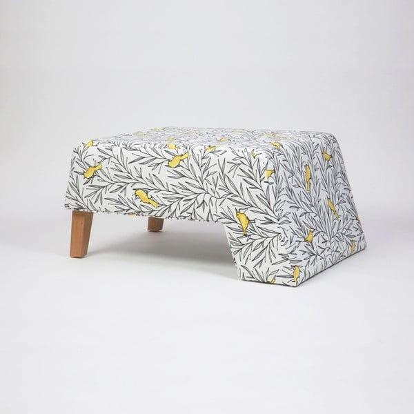 Podnožka s dřevěnými nohami Kate Canaro