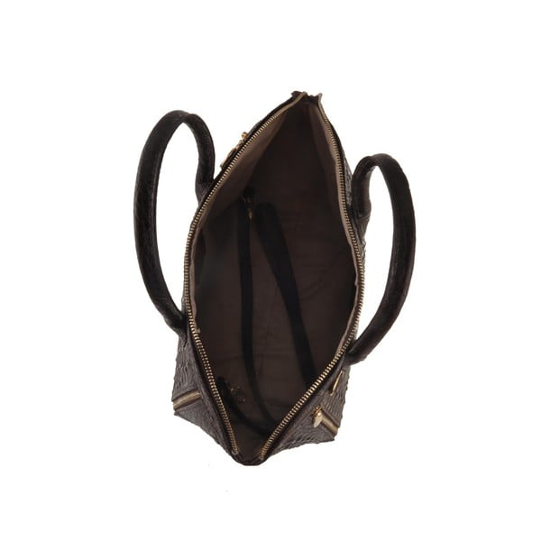 Kožená kabelka Emilio Masi Nunki, černá