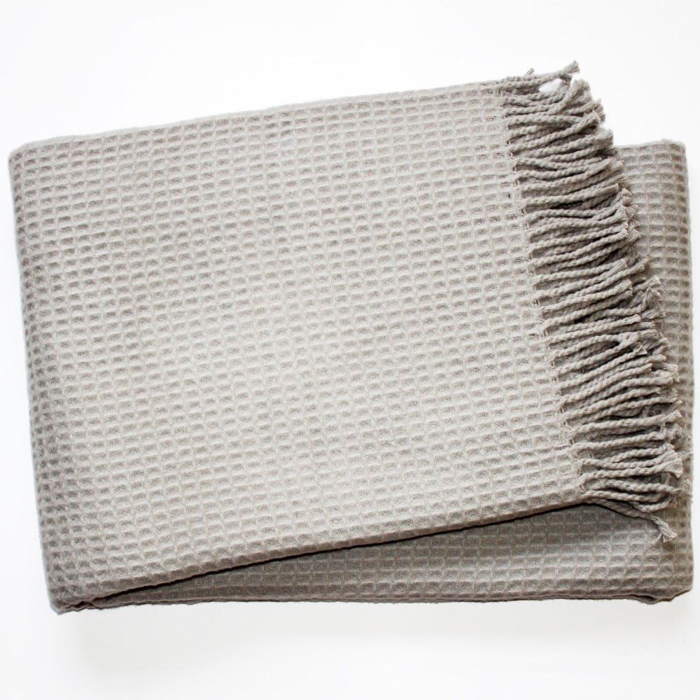 Deka Waffel Light Grey 140 x 180 cm
