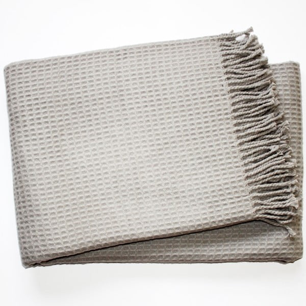 Koc Waffel Light Grey, 140x180 cm
