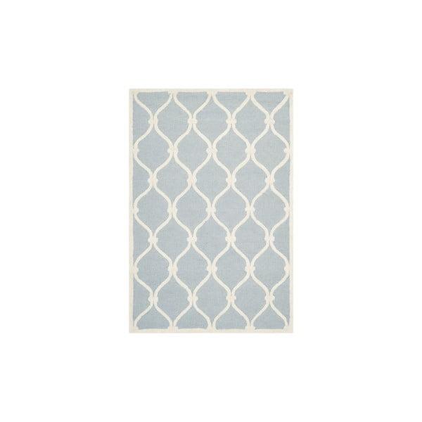 Niebiesko-szary wełniany dywan Safavieh Hugo, 182x121 cm