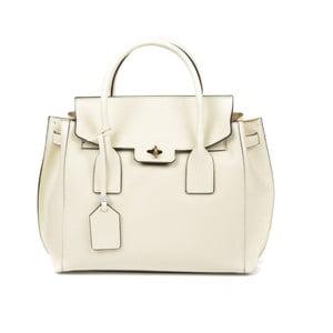 Béžová kožená kabelka Luisa Vannini Benigna