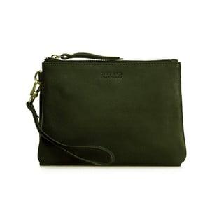 Tmavě zelená kožená taška na zip Scottie Midi