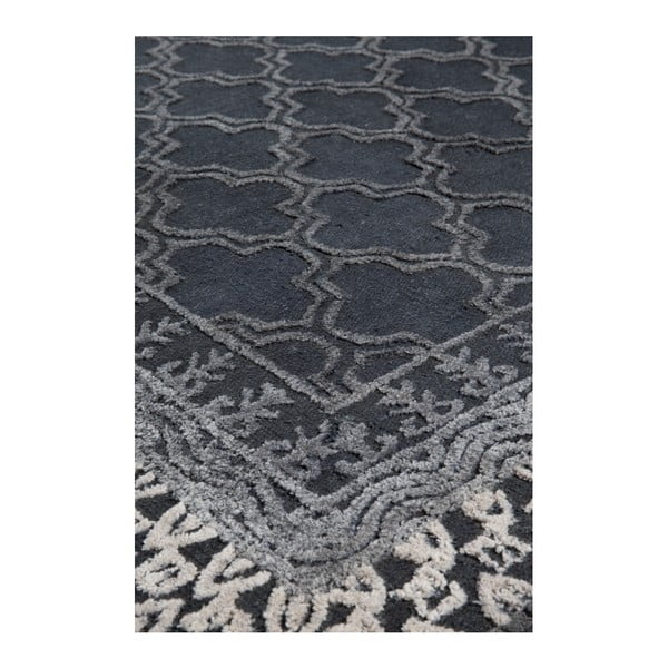 Šedý ručně vyráběný koberec Dutchbone Kasba, 170x240cm