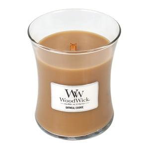 Svíčka s vůní skořice, ovsa a mandlového mléka WoodWick Ovesné sušenky, dobahoření60hodin