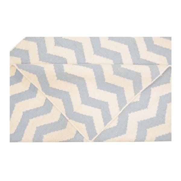 Vlněný koberec Kilim JP 18 Blue, 120x180 cm
