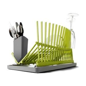 Šedo-zelený odkapávač Black+Blum Dish Rack