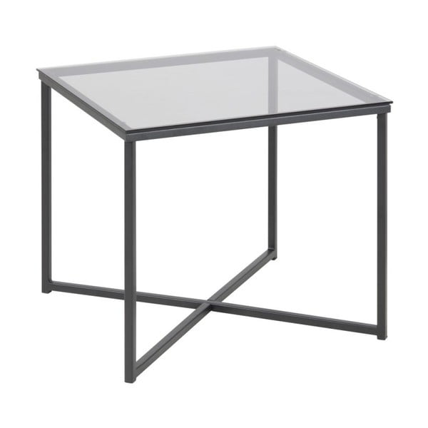 Odkládací stolek se skleněnou deskou Actona Cross