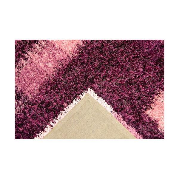 Ručně tkaný koberec Lavella, 70x140 cm, fialový