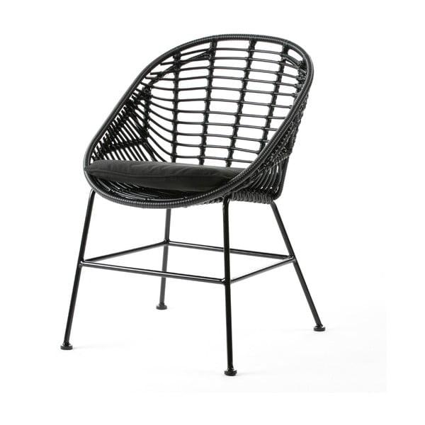 Czarne krzesło Thai Natura Cushion