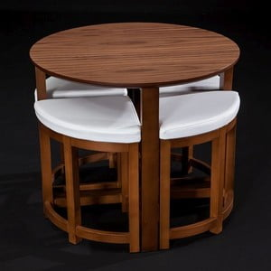Stůl Oval Walnut se židlemi