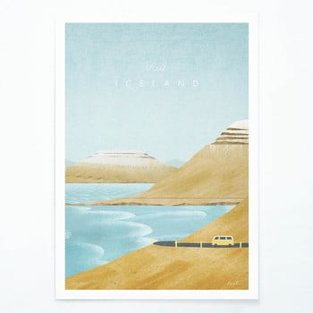 Poster Travelposter Iceland, A3 imagine
