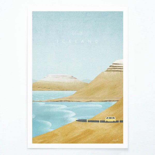 Plakát Travelposter Iceland, A2