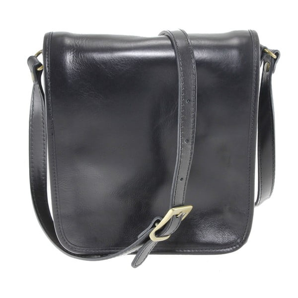 Černá pánská kožená taška přes rameno Chicca Borse Roads