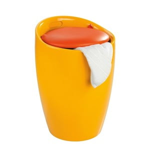 Coș de rufe /taburet Wenko Candy, 20 l, galben