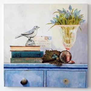 Obraz na plátně Zátiší s ptáčkem