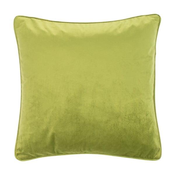 Jasnozielona poduszka Tiseco Home Studio Velvety, 45x45 cm