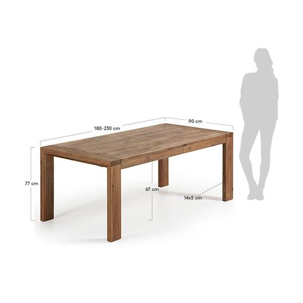 Rozkládací jídelní stůl La Forma Viana, délka180-230cm