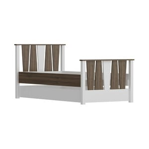 Jednolůžková postel Res Walnut White, 104 x 201 cm