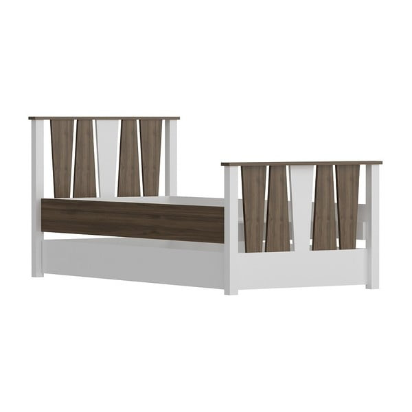 Res Walnut White egyszemélyes ágy, 104 x 201 cm