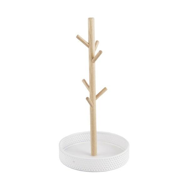 Dřevěný stojánek s bílou miskou na šperky PT LIVING Merge