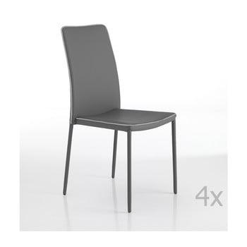 Set 4 scaune Tomasucci Kable, gri de la Tomasucci