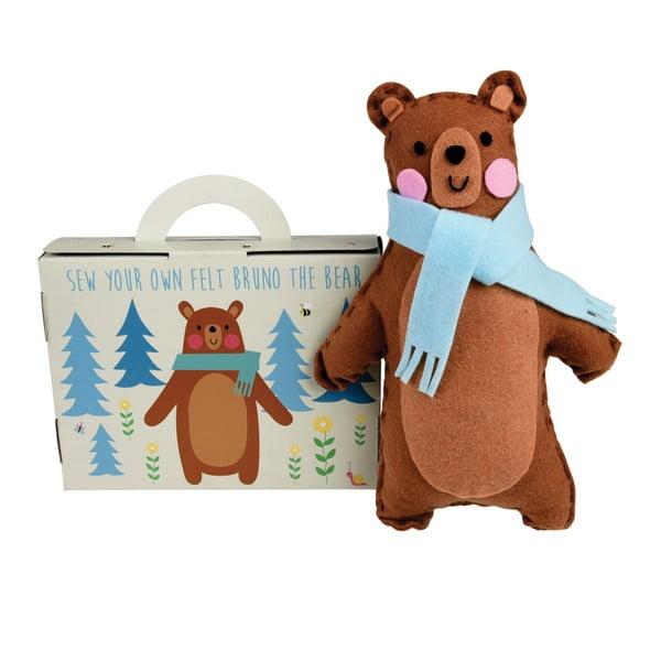 Bruno The Bear plüss maci varrókészlet - Rex London