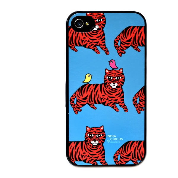 Obal na iPhone 4/4S Jalebi Tiger-with-Birds