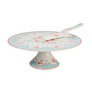 Porcelánový stojan na dort se lžící Lilly