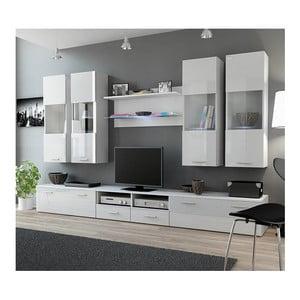 Obývací stěna Rea 1, bílý lesk