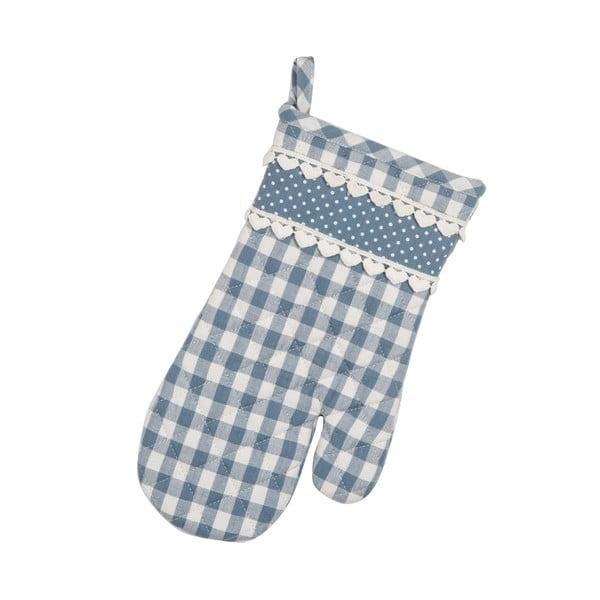 Kuchyňská rukavice Basic Hearts, modrá