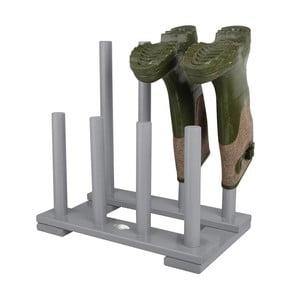 Šedý stojan na 4 páry bot z borovicového dřeva Esschert Design