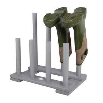 Suport din lemn de pin pentru 4 perechi de pantofi Esschert Design gri