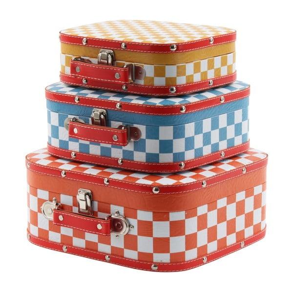 Set tří barevných kufříků