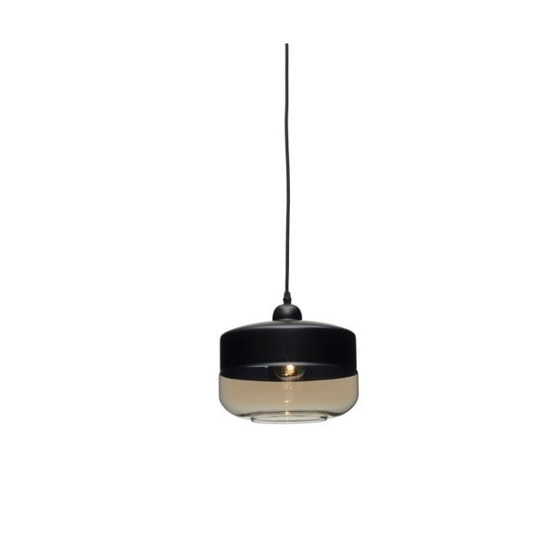Černé závěsné svítidlo Design Twist Caracol Circle
