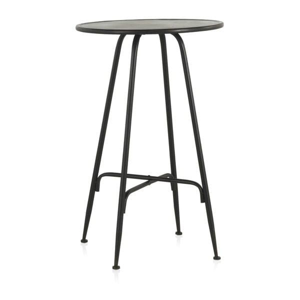 Masă de bar din metal Geese Industrial Style, înălțime 100 cm, negru