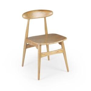 Šedá jídelní židle ze dřeva Sungkai Moycor Buffalo