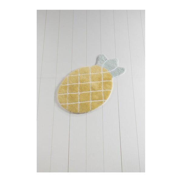 Žlutá koupelnová předložka Russmo Ananas, 100 x 60 cm
