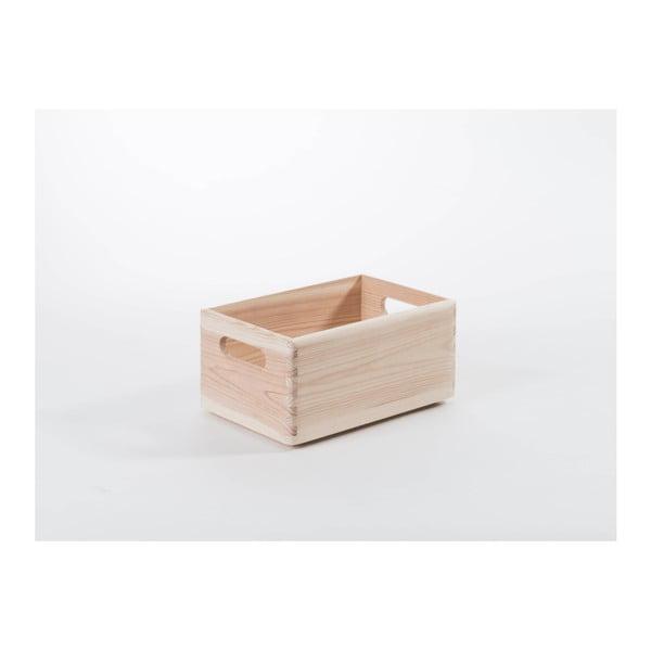 Úložný box z borovicového dřeva Compactor Custom, 30 x 20 x 14 cm