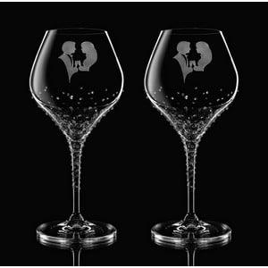Set 2 pahare pentru vin Romance Swarovski Elements în ambalaj luxos