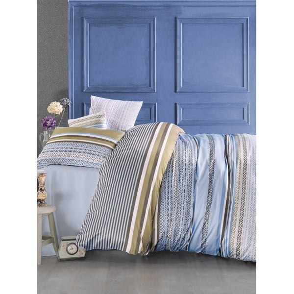 Povlečení s prostěradlem Newline Blue, 200 x 220 cm